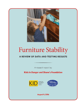 Furniture Stability: A Review of Data and Testing Results
