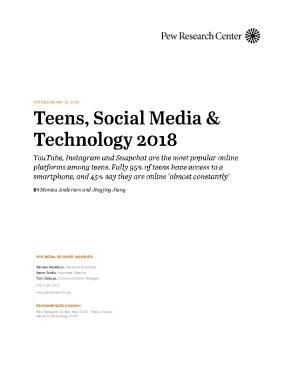 Teens, Social Media & Technology 2018