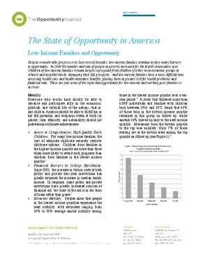 Low Income Families and Opportunity