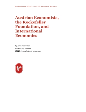 Austrian Economists, the Rockefeller Foundation, and International Economics