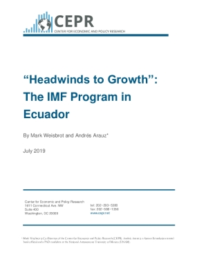 """Headwinds to Growth"": The IMF Program in Ecuador"