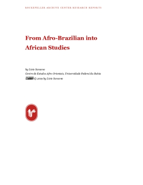 From Afro-Brazilian into African Studies