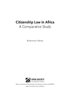 Citizenship Law in Africa